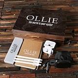Traveler's Set w/ White Int'l Power Adapter, Pens, Journal in Wood Box