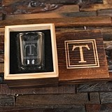 Monogrammed Shot Glass and Souvenir Wood Gift-Box