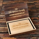 Personalized Bamboo Cutting Board and Keepsake Wood Gift-Box