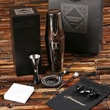 Personalized Stainless-Steel Mixologist Cocktail Set in Wood Gift-Box