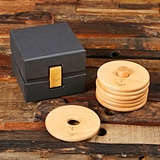 Personalized Beech-Wood Coaster Set with Stand & Bamboo Latch Gift-Box