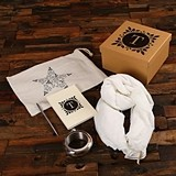 Gift-Set w/ Bracelet Flask, Shawl, Journal, Pen, Star Bag in Kraft Box
