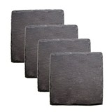 Country Home: Square Slate Coasters by Twine (Set of 4)