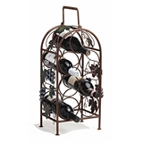 Grapevine Collection 7-Bottle Wrought Iron Wine Rack by Twine