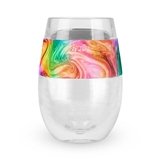 Wine FREEZE Single Cooling Cup with Unicorn Horn Motif Wrap by HOST