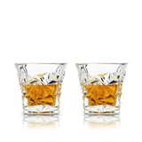 Prism Lead-Free Crystal Whiskey Tumblers by VISKI (Set of 2)