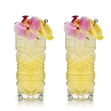 Crystal Tiki Highball Cocktail Glasses by VISKI (Set of 2)