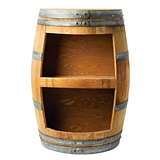 Grapevine Collection Oak Wine Barrel Stave Bookcase by True