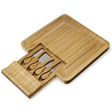 Four-Piece Bamboo Cheese Board and Knife Set by Twine