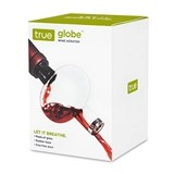 Globe™: Translucent Glass Wine Aerator with Drip-Free Pour by True
