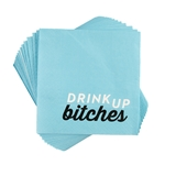 """Drink Up Bitches"" Paper Napkins by Cakewalk (Package of 20)"