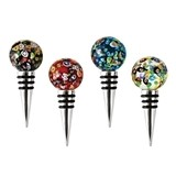 Confetti: Beaded Art Glass Bottle Stopper By Blush (Assorted Colors)