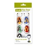 Flip Flop™ Assorted Colors Glass Wine Charms by True (Set of 6)