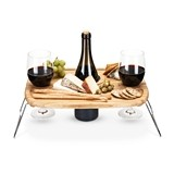 Dash: Wooden Wine Picnic Table with Foldable Metal Legs by True