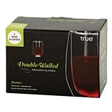 Isole Double-Walled Insulated Wine Glasses by True (Set of 2)