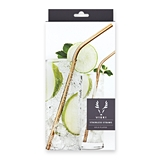 Belmont Gold-Plated Cocktail Straws by VISKI (Set of 4)