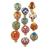 Country Cottage Collection Ceramic Stoppers by Twine (Set of 12)