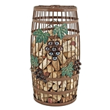 Grapevine Collection Barrel-Shaped Wrought Iron Cork Holder by Twine