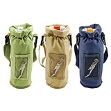 Grab & Go™: Insulated Bottle Carrier (Assorted Colors) with Corkscrew