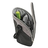 Getaway™: Zippered 2-Person Wine Bottle Service Bag with Corkscrew