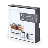 Glacier Rocks: Small Stainless-Steel Liquor Cubes (Set of 4)