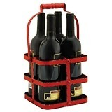 Rustic Farmhouse Collection Big Red 4-Bottle Carrier by Twine