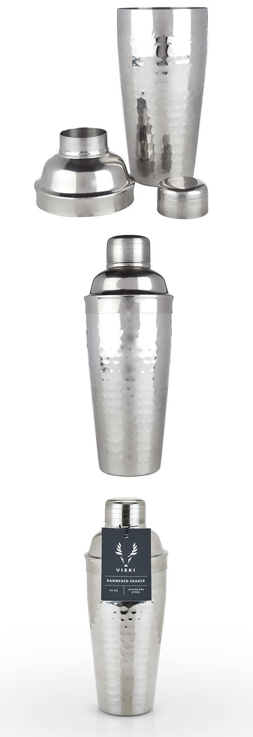 Admiral Collection Hammered Stainless-Steel Cobbler Shaker by VISKI