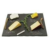 Rustic Farmhouse: Slate Cheese Board with Jute Rope Handles by Twine