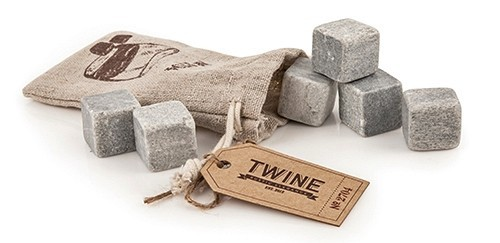 Country Home Collection Six Glacier Rocks Cooling Stones by Twine