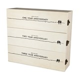 Boulevard Collection Newlyweds' Anniversary Wooden Wine Box by Twine
