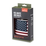 Stainless-Steel and Faux-Leather American Flag Flask by Foster & Rye