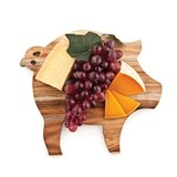 Rustic Farmhouse Collection Pig-Shaped Cheese Board by Twine