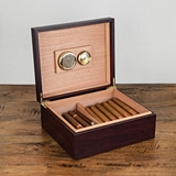 Admiral™ Cherry Wood Humidor with Hygrometer by VISKI
