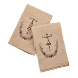 Grapevine Linen and Cotton Corkscrew Icon Towel Set by Twine