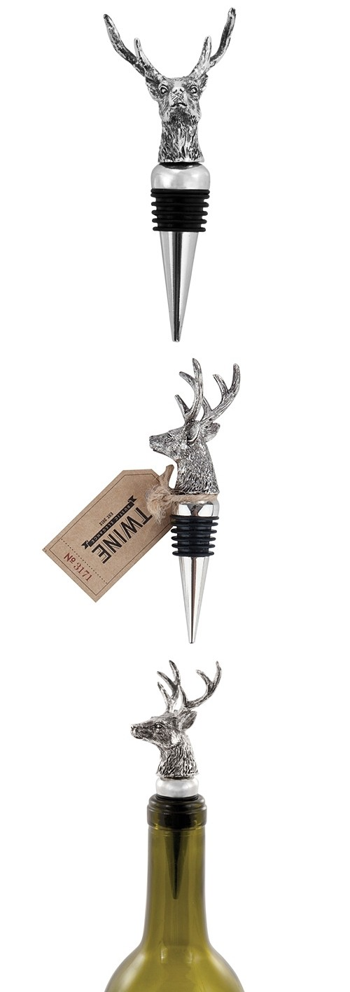 Chateau: Stag Pewter Bottle Stopper by Twine