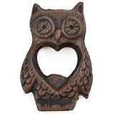Rustic Farmhouse Collection Antiqued Cast-Iron Owl Bottle Opener