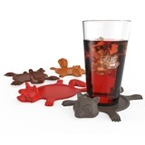 Get Smashed™ Silicone Animal Coasters by TrueZOO (Set of 4)