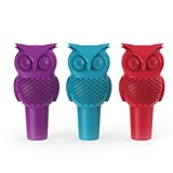 Hoot Owl Silicone Bottle Stopper in Assorted Colors by True
