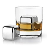 Glacier Rocks: Large Stainless-Steel Liquor Cubes (Set of 2)