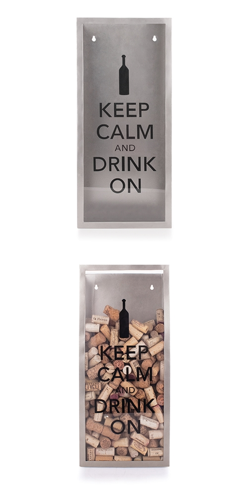 """""""Keep Calm and Drink On"""" Cork Container by True"""