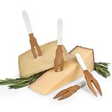 Picket™ White-Paint-Dipped Bamboo Appetizer Picks by True (Set of 4)