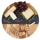 Rustic Farmhouse Collection Acacia Wood and Slate Lazy Susan by Twine