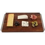 Admiral Acacia Wood Cheese Board w/ Stainless Steel Handles by VISKI