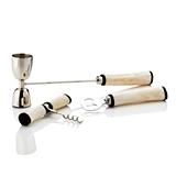 Admiral™ 3-Piece Stainless-Steel Bar Set with Bone Handles by VISKI