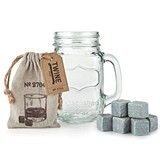 Country Home Collection Mason Jar Stein and Glacier Rocks Set by Twine