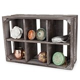 Marketplace Collection Fir-Wood Slatted Display Crate by Twine