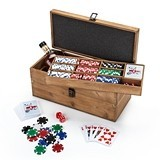 Poker & Liquor Wood Box Set by Foster & Rye