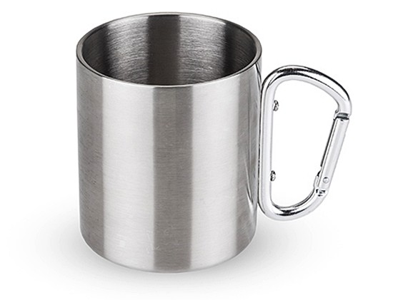 Double-Walled Stainless Steel Carabiner Travel Mug by Foster & Rye
