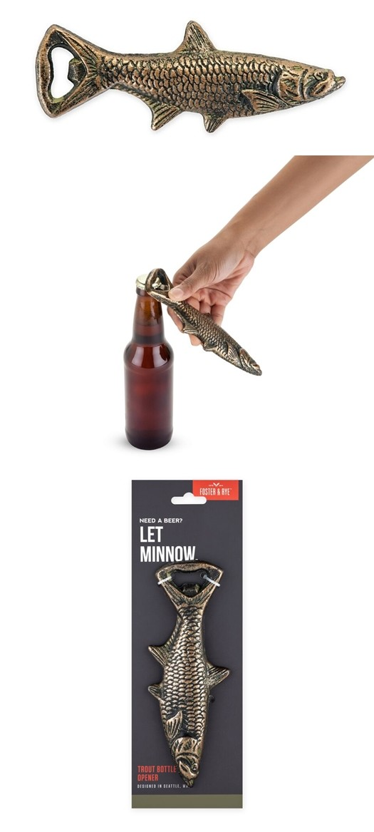 Cast-Iron Fish Bottle Opener by Foster & Rye