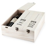 Marketplace™ Collection 3-Bottle Wooden Birthday Wine Box by Twine